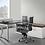 Thumbnail: Suite 211 - L shape desk with low height storage unit