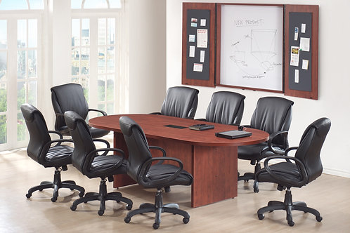 8' laminate race track conference table.
