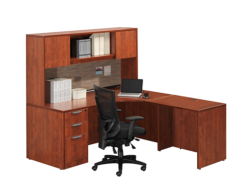 A13  L shape desk with  B.B.F. file and storage