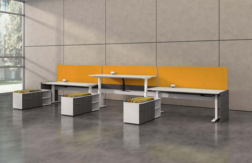 Adjsutable Height   Hover Series By Desk Makers   Lay Out H6   $$$ | Office Furniture  Austin, TX | Logical Office Furniture