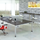 Thumbnail: Suite 207 - 4 Bench desk with 2 dividers.