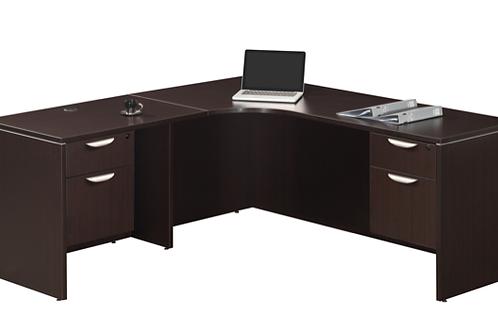 A14  L shape desk with 2 B.F. files