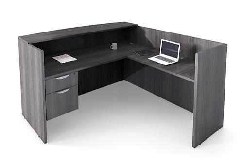 A23 L Shape Reception desk with 1 B.F. file.
