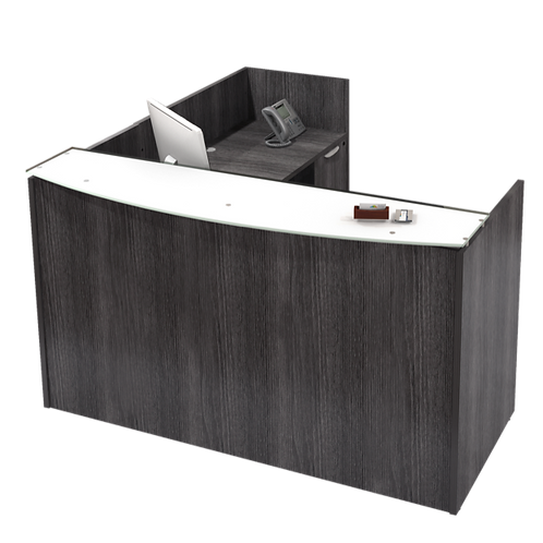 A24 L Shape Reception desk with 2 B.F. files