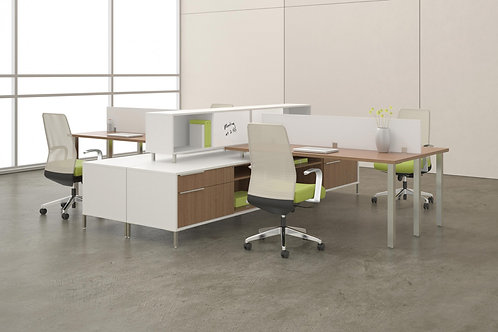 Desk Makers TeamWorX Layout 227