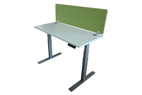 New height adjustable desk with divider