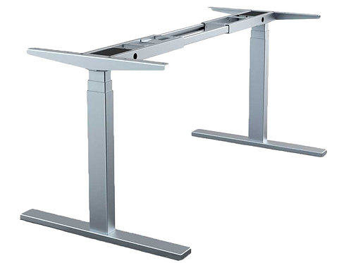 Height adjustable dual motor base with display
