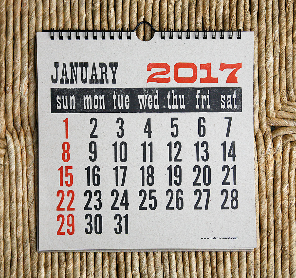 2017_chipboard_Calendar_January