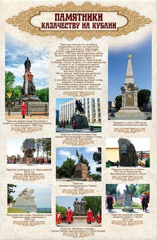 Памятники казачеству на кубани (70х100).