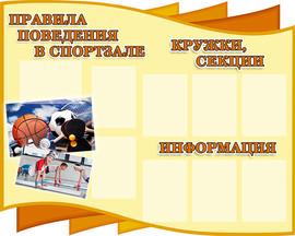 4. Правила поведения в спортзале (150х12
