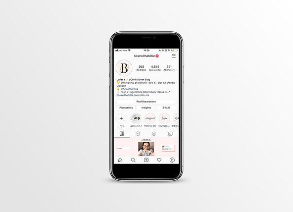 80 Instagram Highlight Cover - Lettering Rosa