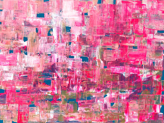 """Pink Puzzle - 18"""" x 24"""""""