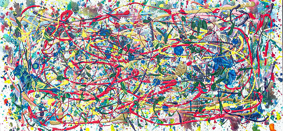 "A Little Scatterbrained - 20"" x 40"""