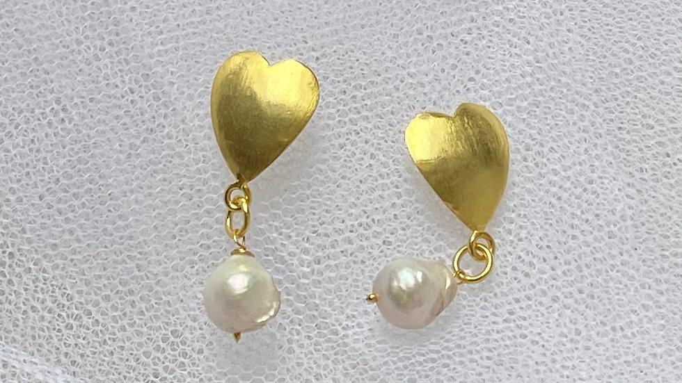 'Daphne' heart drop earrings