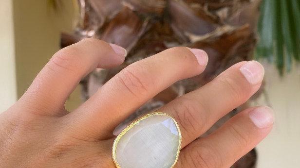 White Quartz ring