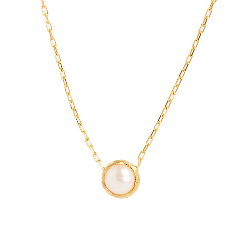 Pearl earring connector chain