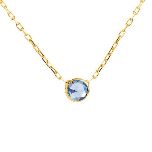 Light azure earring connector chain