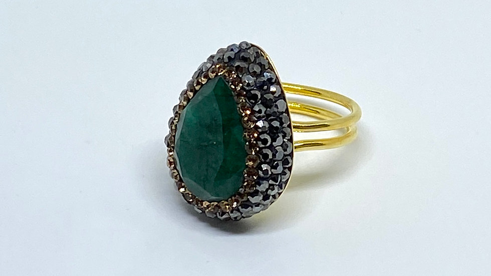 Monte Carlo Emerald green ring