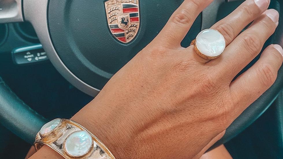 Coin Pearl bangle