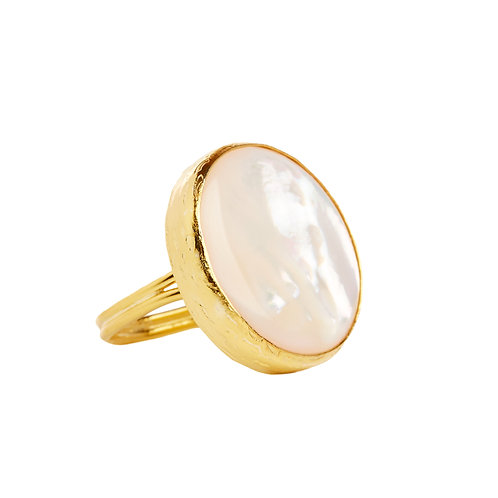 Mother of Pearl Luna ring