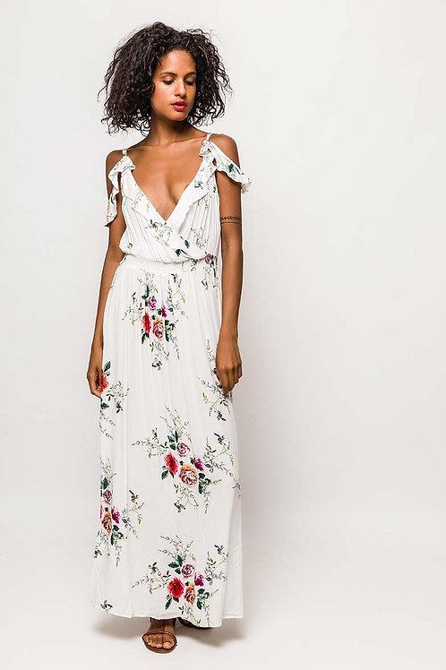 Vestido largo flores Mixika