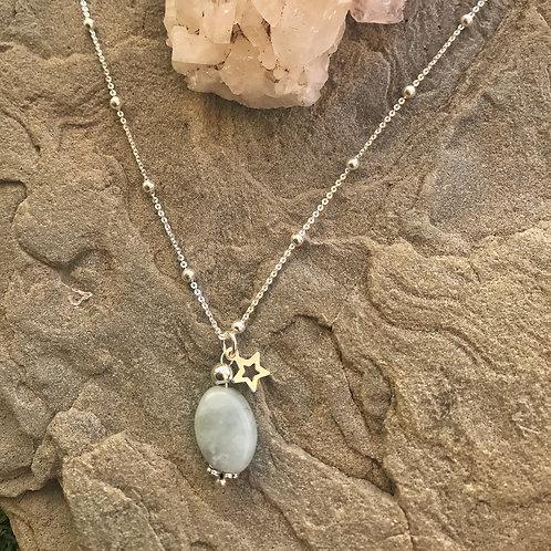 Colgante Piedra de Luna y cadena MIXIKA
