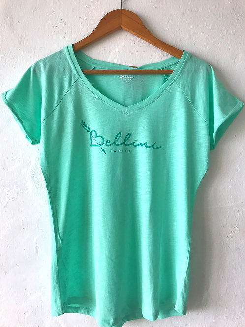 Camiseta menta Bellini corazón