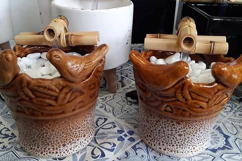 Casal de Pássaros Pipoca