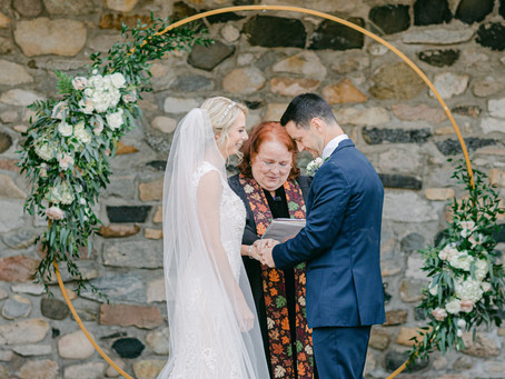 A Warm Winter Wedding in Navy Blue and Dusty Rose at Castle Farms, Charlevoix