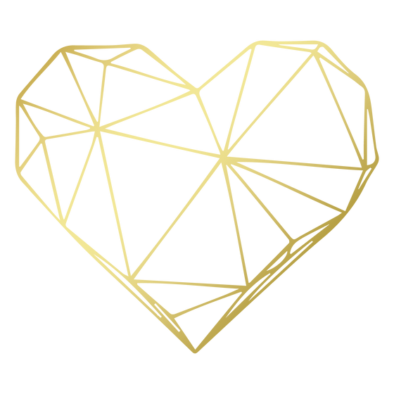 Heart high-res geometric heart logo imag