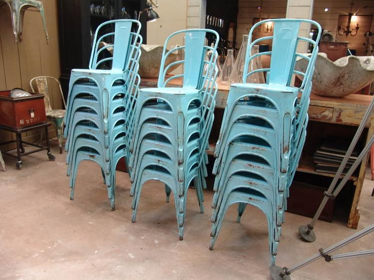 Cafe and metal bistro chairs for rent in northern Michigan