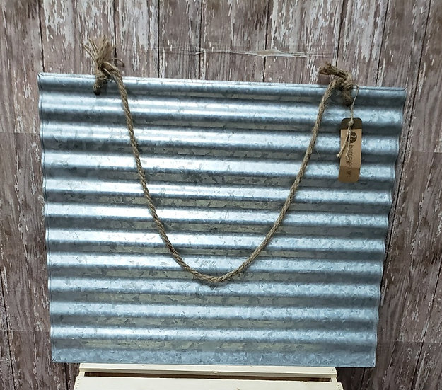 Galvanized Sign