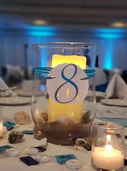 Nautical/Beach Table Numbers