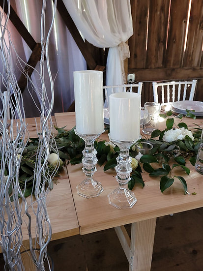 Taper Candle Holders-Glass