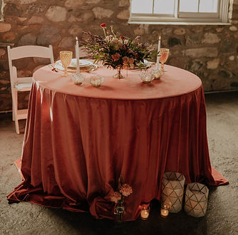 light table setting with capiz