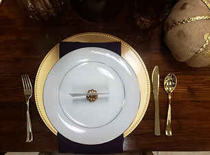 fall flatlay with gold beaded charger and eggplant napkins.jpg