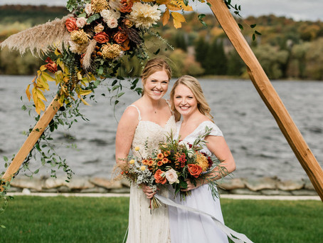 """A Tale of Two Weddings"": A Styled Shoot at The Boathouse, East Jordan"