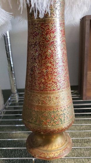 Metal Printed Vase