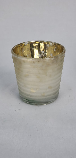 Frosted/Gold Mercury Glass Votive Holder