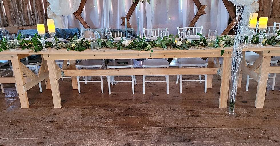 Handmade (Natural) Farm Tables- northern Michigan made!