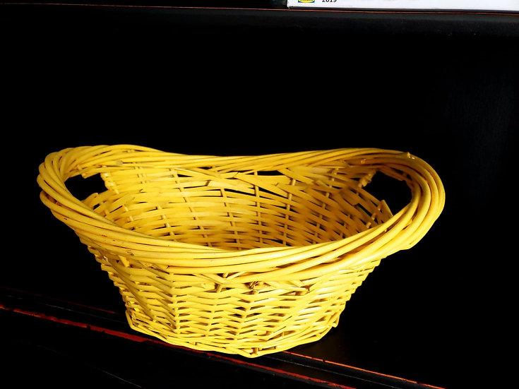 Yellow Weave Basket