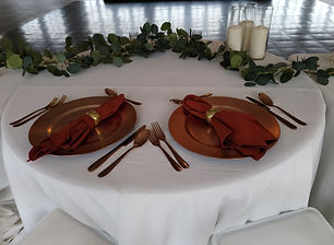 sweetheart table copper terracotta close