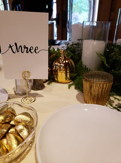 Metal Table Number and Place Card Holders