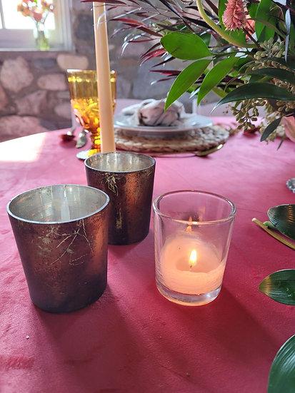 Bronze Votive Candle Holders
