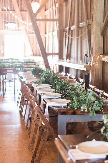 Solid Wood (Walnut Stain) Farm Tables- Michigan Made!
