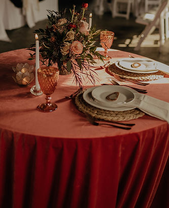 light candles table setting