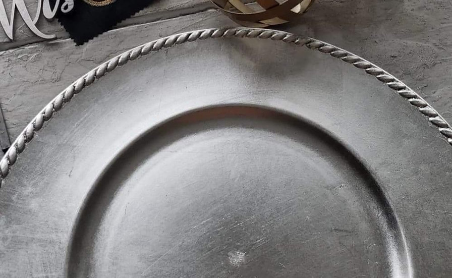 Braided Edge Charger Plates