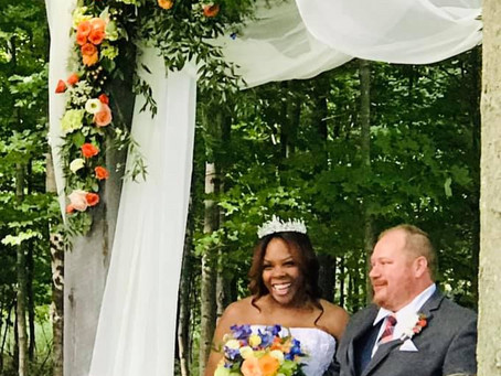 A Rustic Elegant Wedding in Marine Blue and Sienna Orange at Iron Fish Distillery, Thompsonville