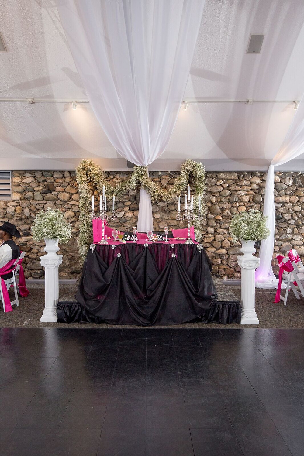 Black Handmade Cinderella Draping- King's Great Hall