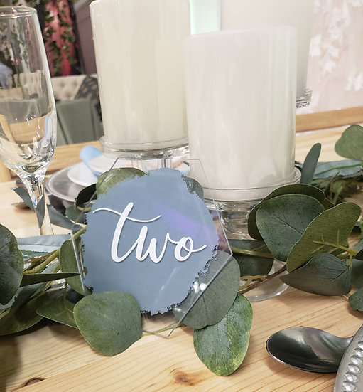 Acrylic Signs and Table Numbers
